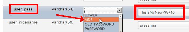 حالا از فهرست Function گزینه MD5 را انتخاب نمایید .